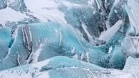 Svinafellsjoekull Glacier In Vatnajokull During Winter Glacier Front And Icefall Fine Art Print