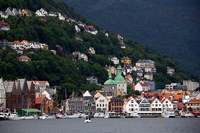 Norway, Bergen Bergen Harbour Fine Art Print
