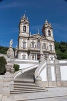Portugal, Braga, Tenoes, Portuguese Pilgrimage Site, Good Jesus Of The Mount Fine Art Print