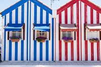 Portugal, Costa Nova, Fisherman's Village Fine Art Print