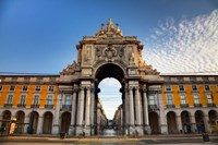 Portugal, Lisbon, Rua Augusta, Commerce Square, Arched Entry Fine Art Print