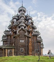 Kizhi Pogost Wooden Church In Lake Onega Karelia Russia Fine Art Print