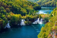 Lake Kozjak And Travertine Cascades On The Korana River, Croatia Fine Art Print