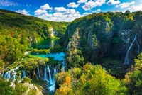 Travertine Cascades On The Korana River, Plitvice Lakes National Park, Croatia Fine Art Print