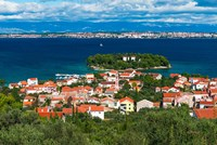 Town Of Preko And The Dalmatian Coast From St Michael's Fort, Croatia Fine Art Print