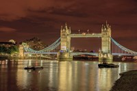 Tower Bridge At Night London England Fine Art Print