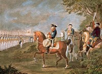 Parade Of The Troops Before Frederick II Fine Art Print