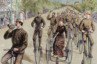 American League Cycles In Pennsylvania Avenue Mid May 1884 Washington Fine Art Print