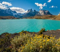 Chile, Patagonia, Torres Del Paine National Park The Horns Mountains And Lago Pehoe Fine Art Print
