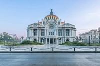 Mexico City, Palacio De Bella Artes At Dawn Fine Art Print