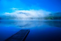 Serenity On A Misty Lake Fine Art Print