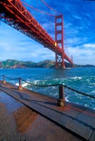Beneath The Golden Gate Bridge Fine Art Print