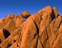 Monzonite Granite Boulders At Sunset, Joshua Tree NP, California Fine Art Print