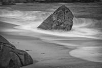 California, Garrapata Beach (BW) Fine Art Print
