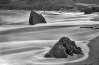 Garrapata Beach Coastal Boulders (BW) Fine Art Print