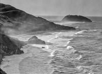 Little Sur Coast, California (BW) Fine Art Print