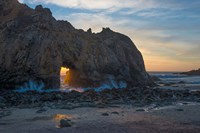 Arch's Last Light At Pfeiffer Beach Fine Art Print