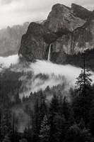 Bridal Veil Falls, Yosemite NP (BW) Fine Art Print