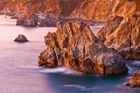 Evening Light On The Big Sur Coast Fine Art Print
