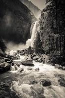 Lower Yosemite Falls, Yosemite National Park (BW) Fine Art Print