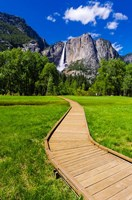 Boardwalk Headed To Yosemite Falls Fine Art Print
