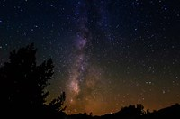 The Milky Way Above Dusy Basin, Kings Canyon National Park Fine Art Print