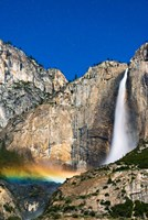 Moonbow And Starry Sky Over Yosemite Falls, California Fine Art Print