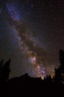 The Milky Way Over The Palisades Fine Art Print