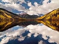 Fall Reflections On Crystal Lake Fine Art Print