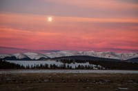 Full Moon And Alpenglow Above Mosquito Range Fine Art Print