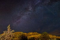 Milky Way Above Mountains, Colorado Fine Art Print