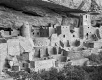 Cliff Palace, Mesa Verde, Colorado (BW) Fine Art Print