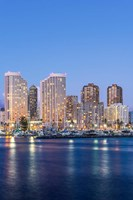 Hawaii, Honolulu, Twilight Waikiki Skyline Fine Art Print