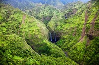Waterfalls Of Kauai, Hawaii Fine Art Print