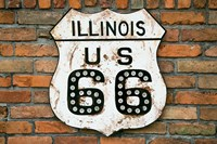 Dirty Illinois Route 66 Sign Fine Art Print
