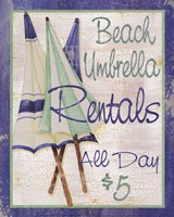 Beach Umbrellas Fine Art Print