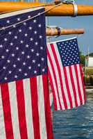 US Flag At The Annual Schooner Festival Fine Art Print