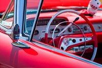 Classic Interior At An Antique Car Show Fine Art Print