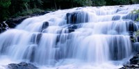 Wide Cascade Of Bond Falls On The Ontonagon River Fine Art Print