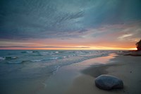Solitary Boulder On A Beach Of Lake Superior, Michigan Fine Art Print