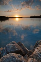 Sunset On Kabetogama Lake, Voyageurs National Park Fine Art Print