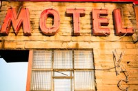Old Motel Sign, Route 66 Fine Art Print