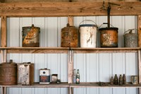 Rusted Antique Metal Cans, Route 66 Fine Art Print