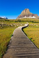 Hidden Lake Trail At Logan Pass, Glacier National Park, Montana Fine Art Print