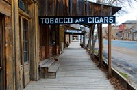Tobacco Gold Rush Store In Virginia City, Montana Fine Art Print