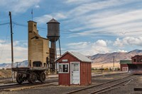 Detail Of Historic Railroad Station, Nevada Fine Art Print