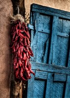 Hanging Chili Peppers, New Mexico Fine Art Print