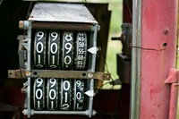 Antique Gas Pump Counting Machine, Tucumcari, New Mexico Fine Art Print