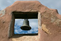 Adobe Church Bell, Taos, New Mexico Fine Art Print
