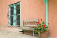 Exterior Of An Adobe Building, Taos, New Mexico Fine Art Print